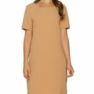 M Linea Louis Dell'Olio Gauze Dress Jute Tan